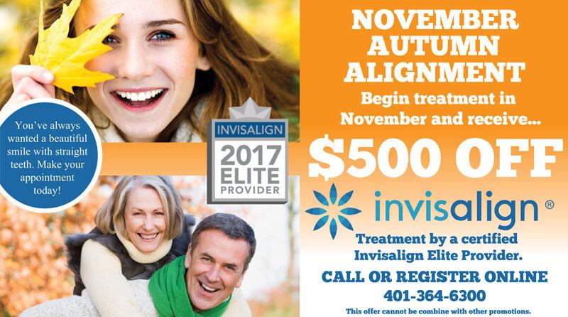 Invisalign Promotion November 2017